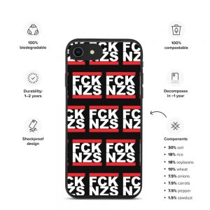 FCK NZS Biodegradable iPhone Case