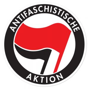 Antifa Antifaschistische Aktion Bubble-free Stickers