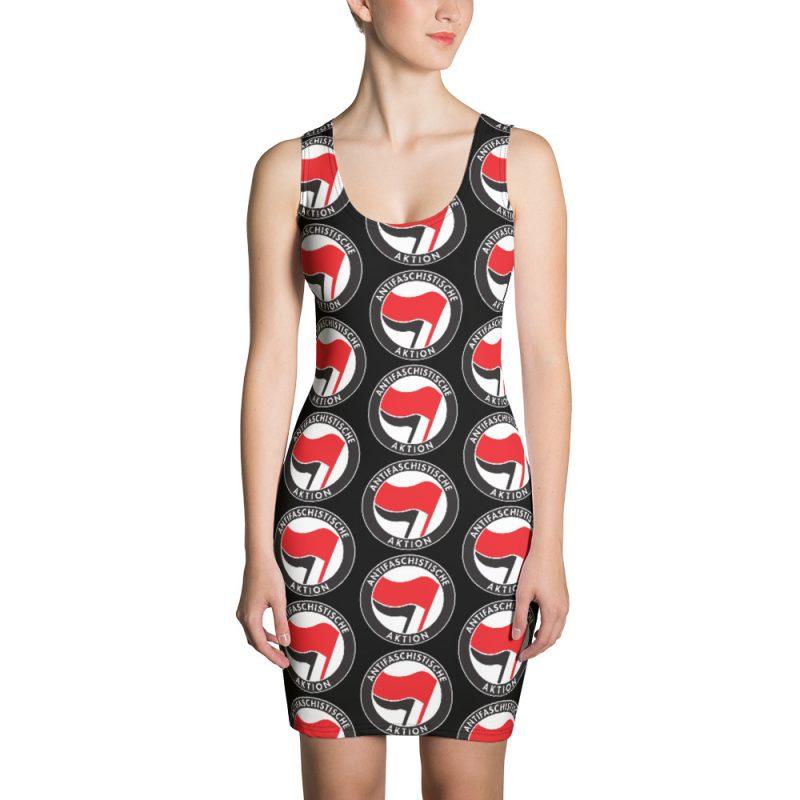 Antifa Antifaschistische Aktion Flag Sublimation Cut & Sew Dress