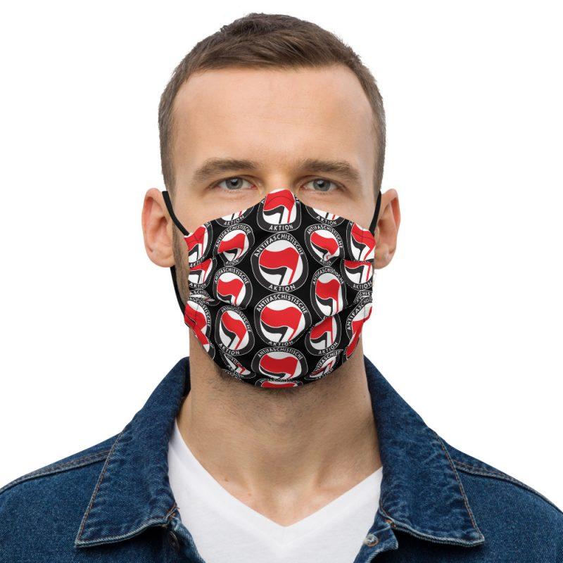 Antifa Antifaschistische Aktion Flag Premium Face Mask