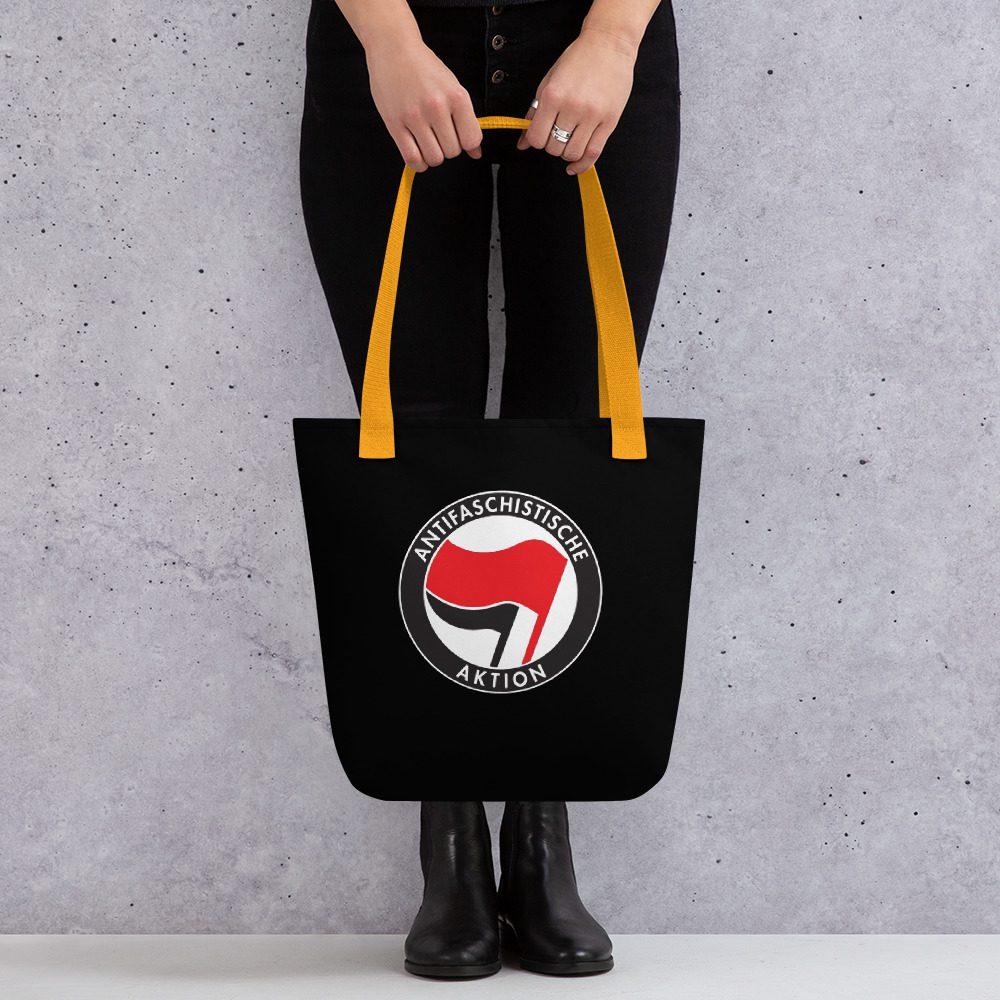 Antifa Antifaschistische Aktion Flag Tote bag