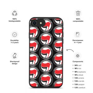 Antifa Antifaschistische Aktion Flag Biodegradable iPhone Case