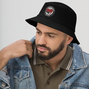 Antifa Antifaschistische Aktion Flag Bucket Hat