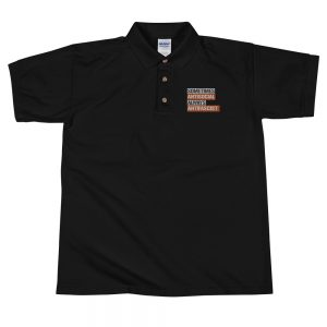 Sometimes Antisocial Always Antifascist Embroidered Polo Shirt