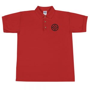 Antifa Iron Front 3 Arrows Embroidered Polo Shirt