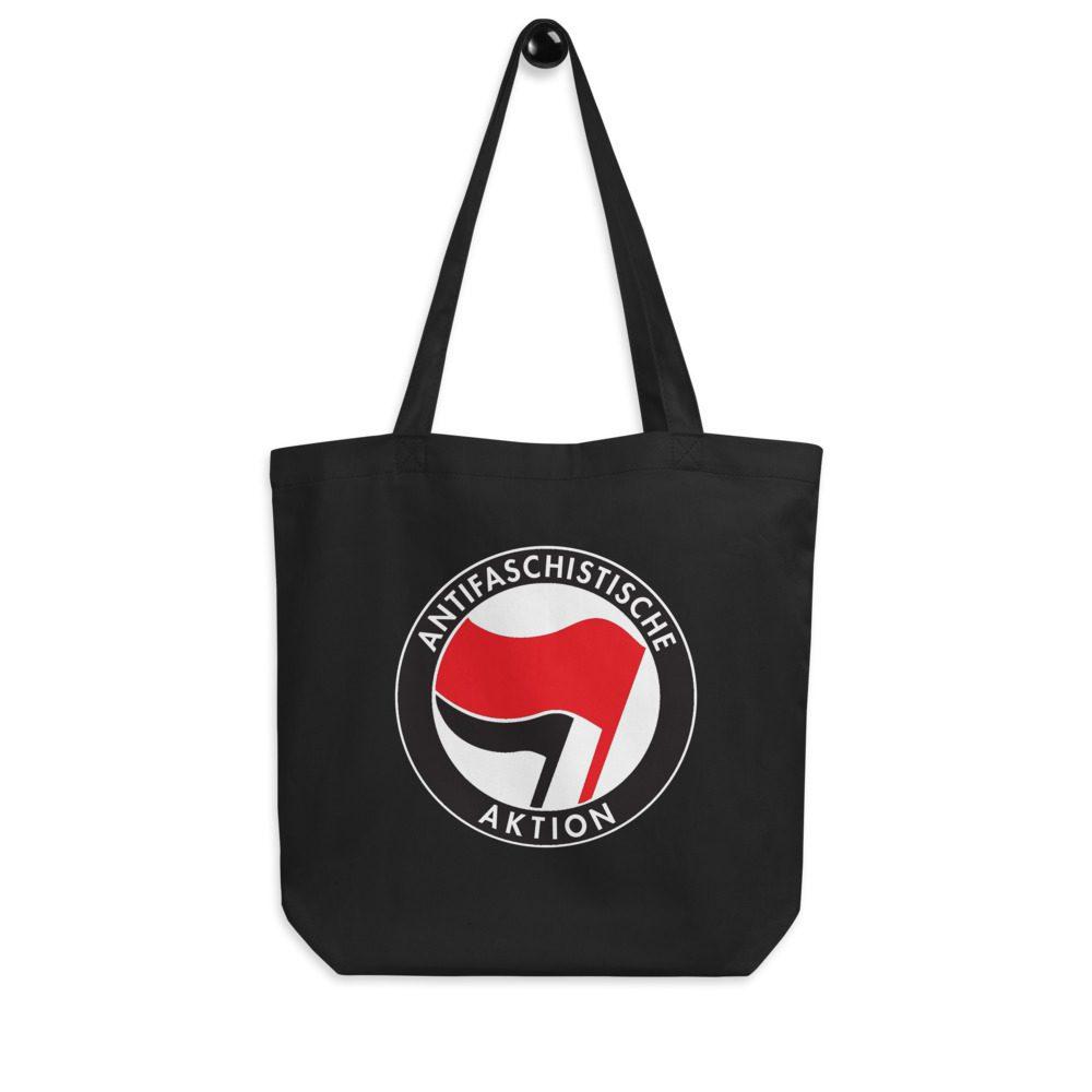 Antifa Antifaschistische Aktion Flag Eco Tote Bag