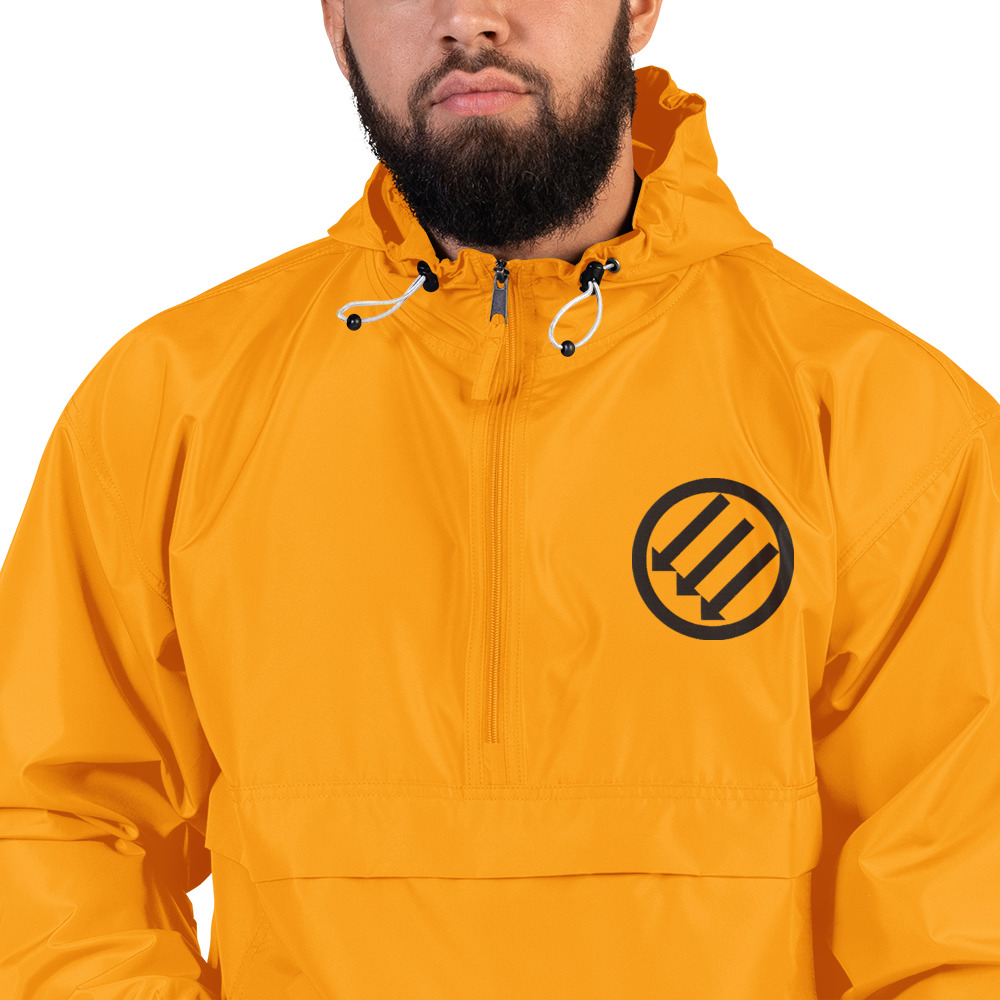 Antifa Iron Front 3 Arrows Embroidered Champion Packable Jacket