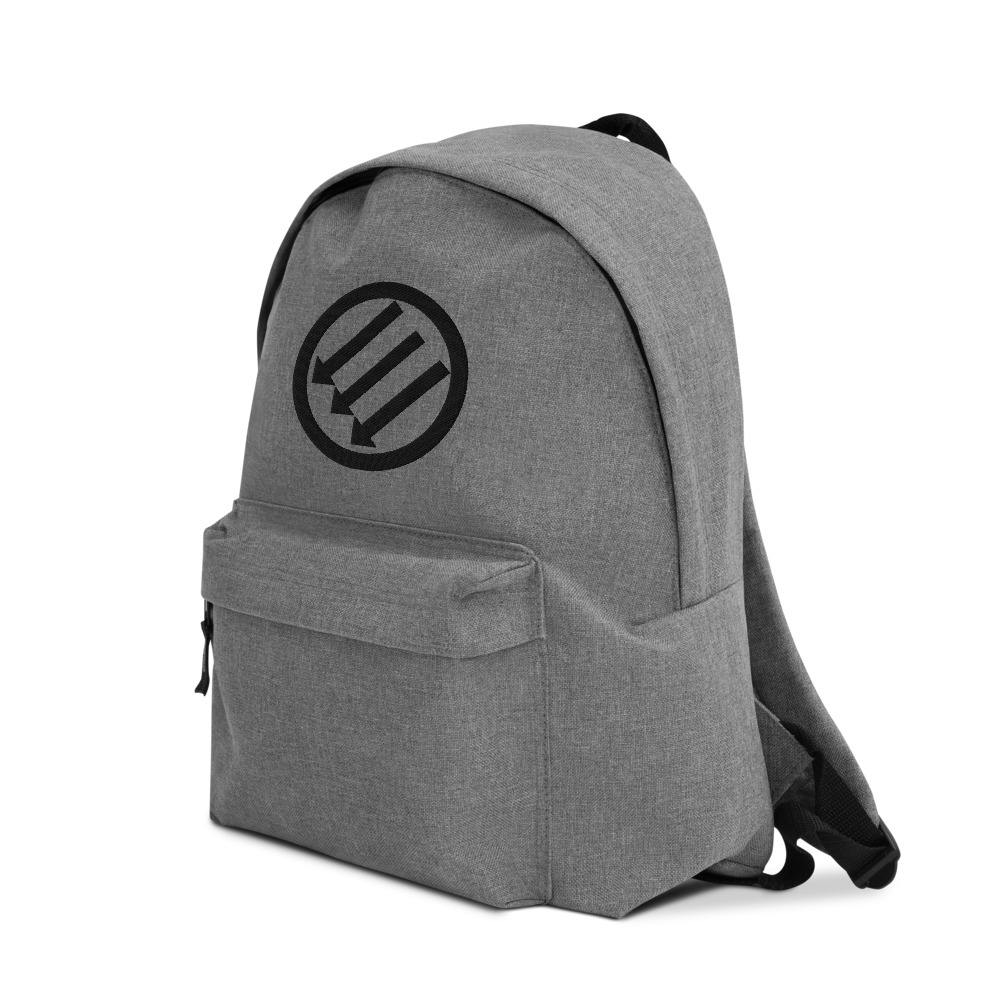 Antifa Iron Front 3 Arrows Embroidered Backpack