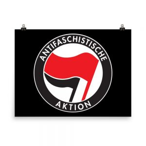 Antifa Antifaschistische Aktion Flag Poster