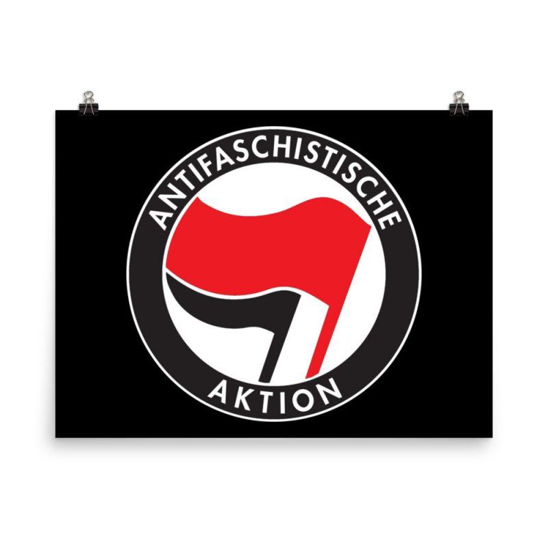 Antifa Antifaschistische Aktion Flag Poster