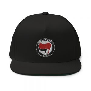 Antifa Antifaschistische Aktion Flag Flat Bill Cap