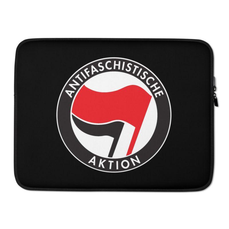 Antifa Antifaschistische Aktion Flag Laptop Sleeve