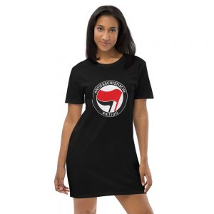Antifa Antifaschistische Aktion Flag Organic Cotton T-shirt Dress