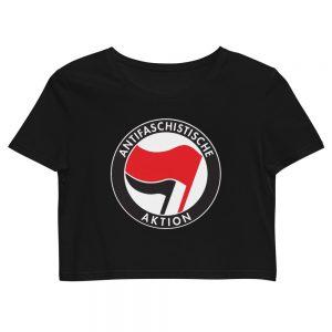 Antifa Antifaschistische Aktion Flag Organic Crop Top