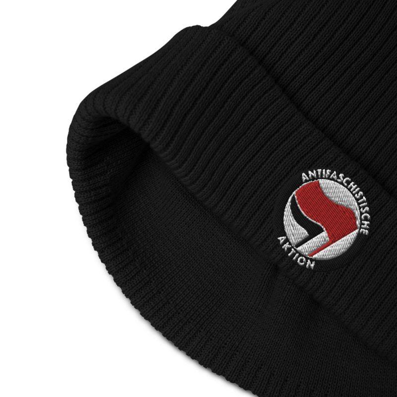 Antifa Antifaschistische Aktion Flag Organic Ribbed Beanie