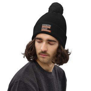 Sometimes Antisocial Always Antifascist Pom Pom Beanie
