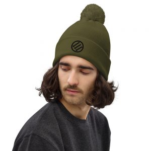 Antifa Iron Front 3 Arrows Pom Pom Beanie