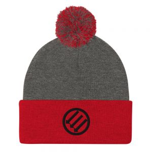 Antifa Iron Front 3 Arrows Pom-Pom Beanie