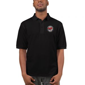 Antifa Antifaschistische Aktion Flag Men's Premium Polo