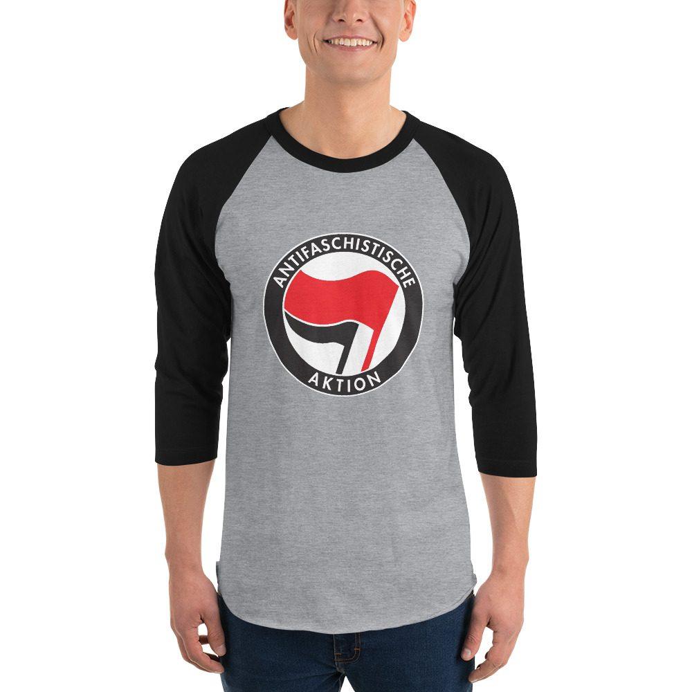 Antifa Antifaschistische Aktion Flag 3/4 Sleeve Raglan Shirt