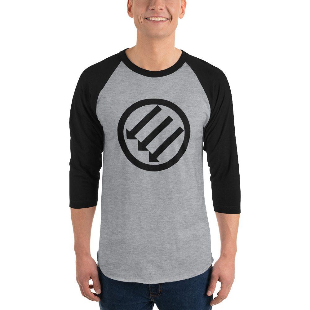Antifa Iron Front 3 Arrows 3/4 Sleeve Raglan Shirt