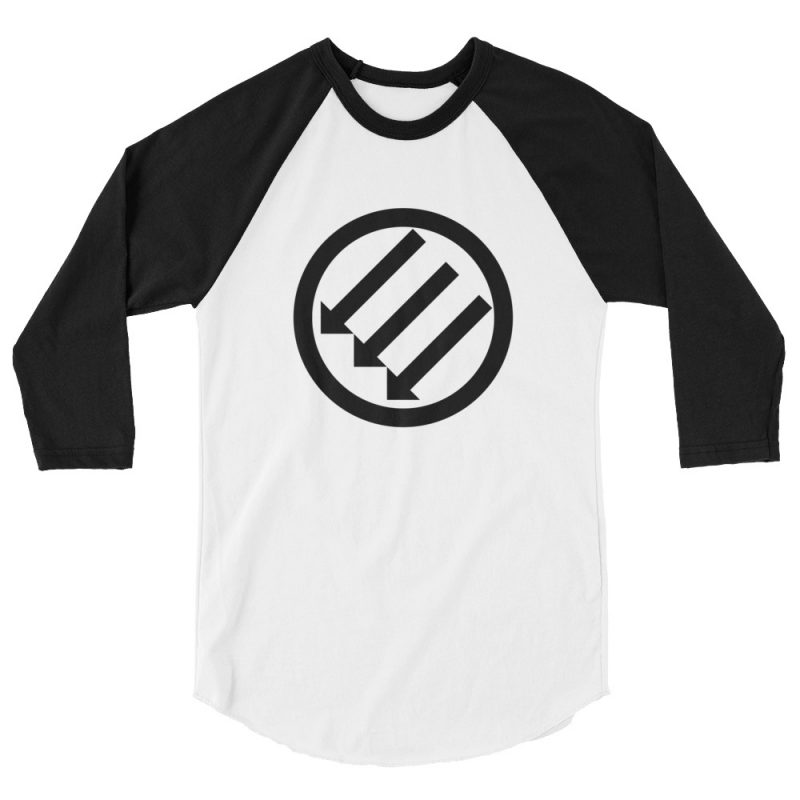 Antifa Iron Front 3 Arrows 3/4 Sleeve Raglan Shirt