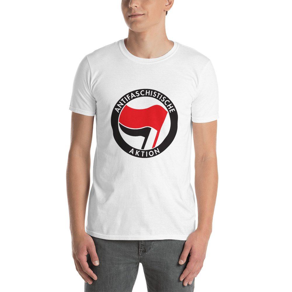 Antifa Antifaschistische Aktion Flag Short-Sleeve Unisex T-Shirt