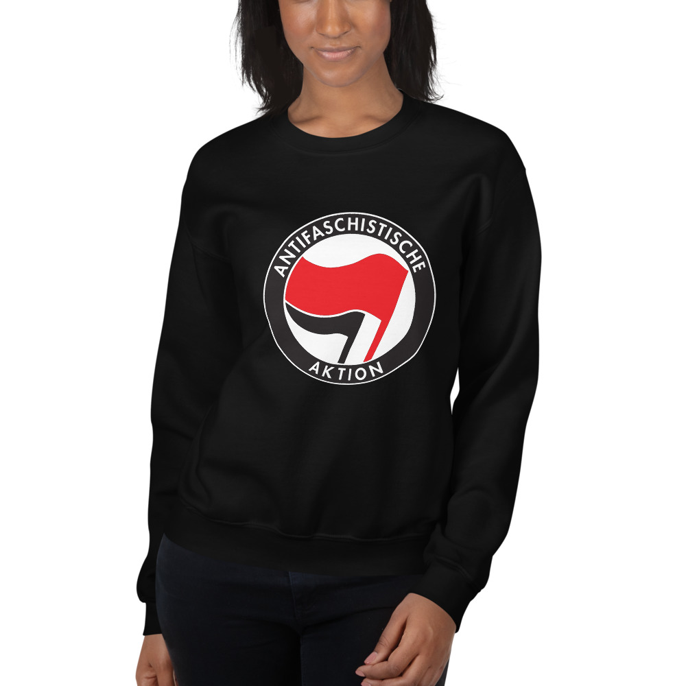 Antifa Antifaschistische Aktion Flag Unisex Sweatshirt