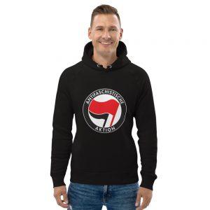 Antifa Antifaschistische Aktion Flag Organic Unisex Pullover Hoodie