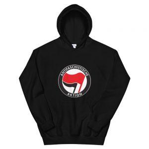 Antifa Antifaschistische Aktion Flag Unisex Hoodie