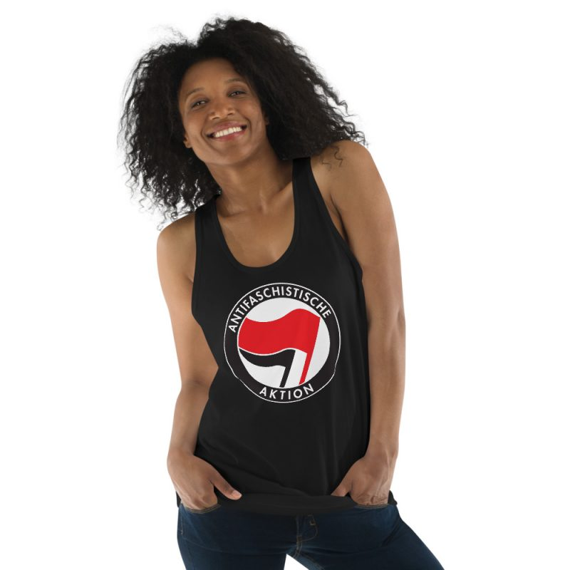 Antifa Antifaschistische Aktion Flag Classic Tank Top (Unisex Vest)