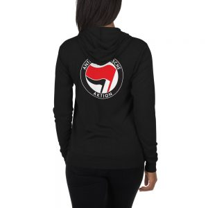 Antifa Antifaschistische Aktion Flag Unisex Zip Hoodie