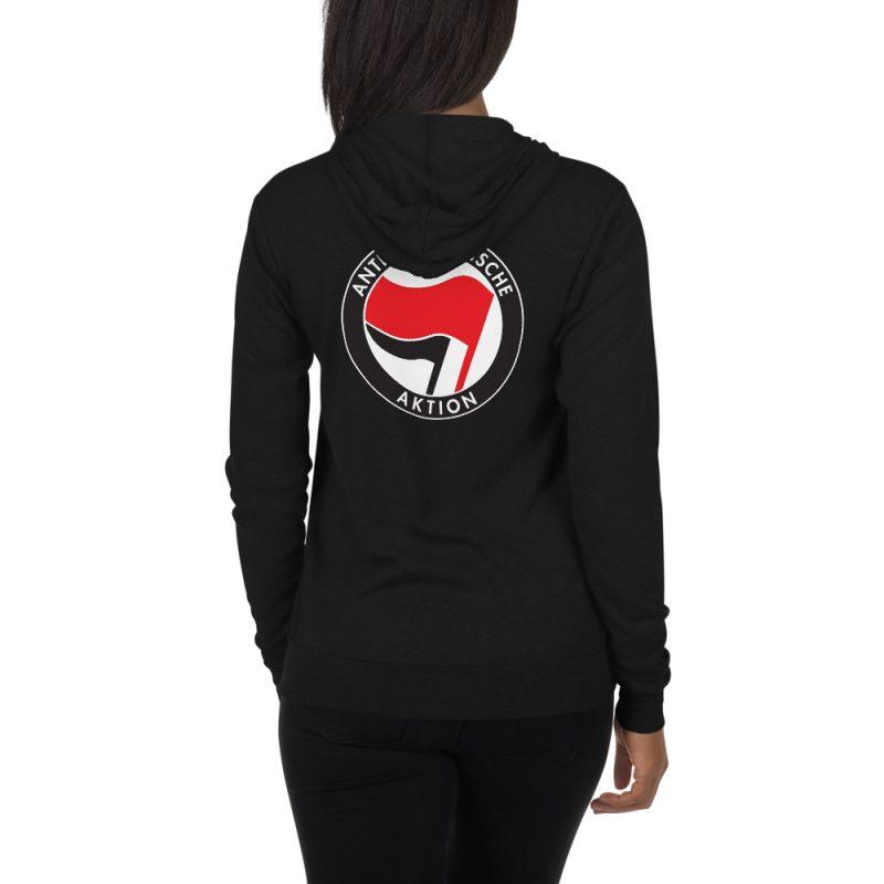 Antifa Antifaschistische Aktion Flag Unisex Zip Hoodie