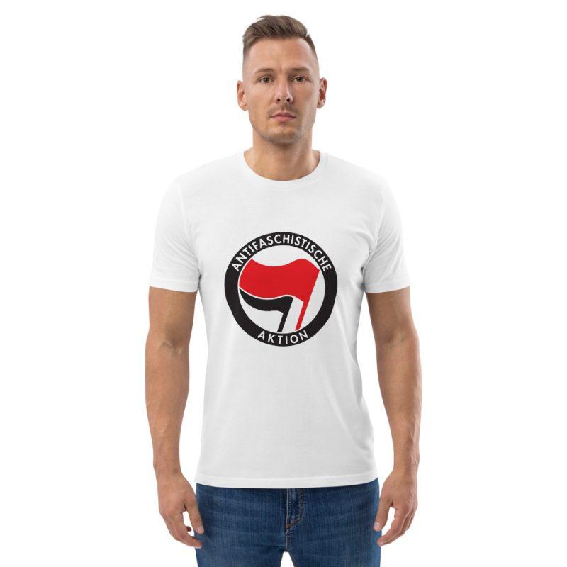 Antifa Antifaschistische Aktion Flag Unisex Organic Cotton T-shirt