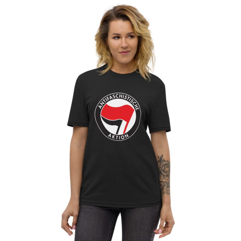 Antifa Antifaschistische Aktion Flag Unisex Recycled T-shirt