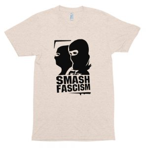 Smash Fascism Unisex Tri-Blend Track Shirt
