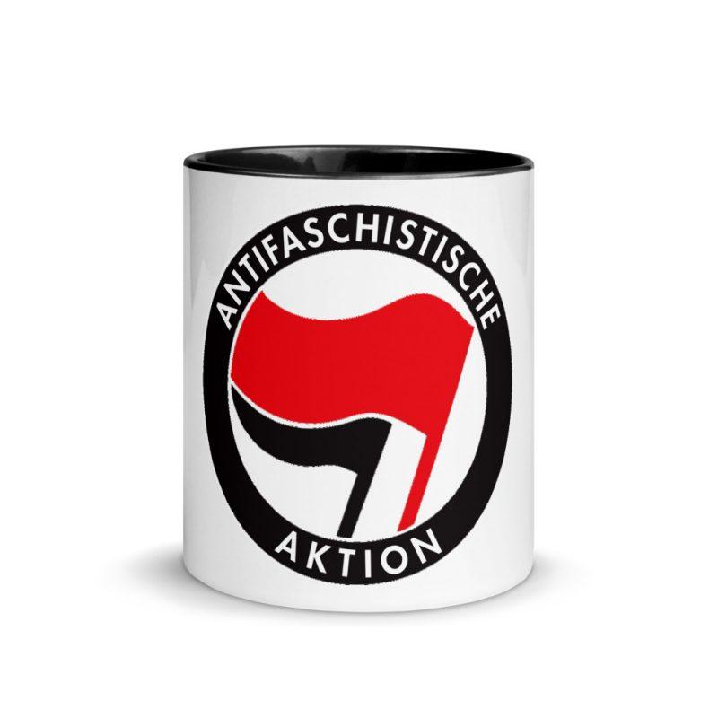 Antifa Antifaschistische Aktion Flag Mug with Color Inside