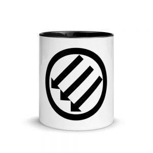 Antifa Iron Front 3 Arrows Mug with Color Inside