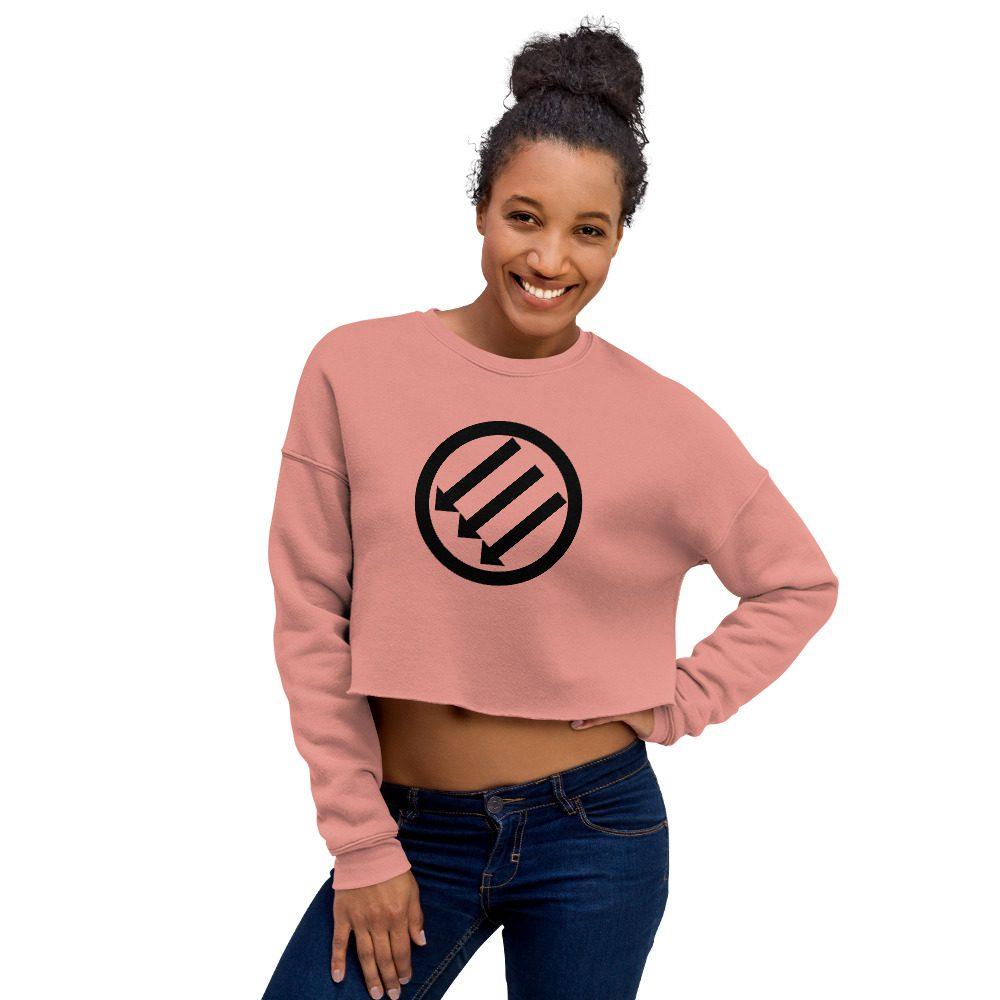 Antifa Iron Front 3 Arrows Crop Sweatshirt