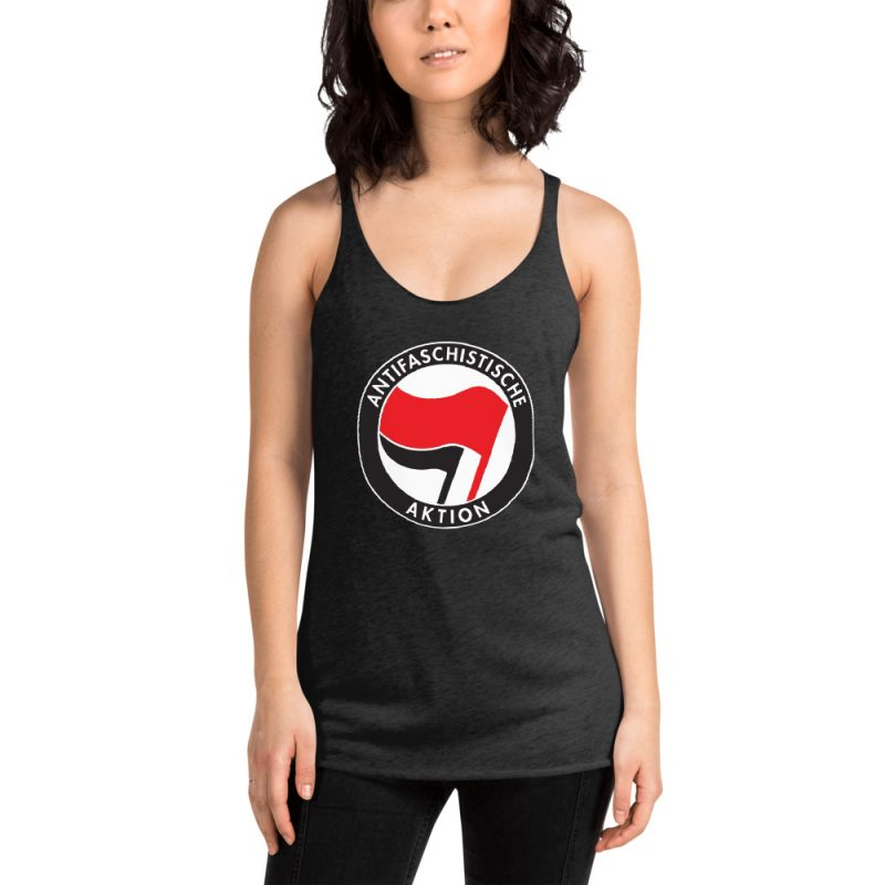Antifa Antifaschistische Aktion Flag Women's Racerback Tank