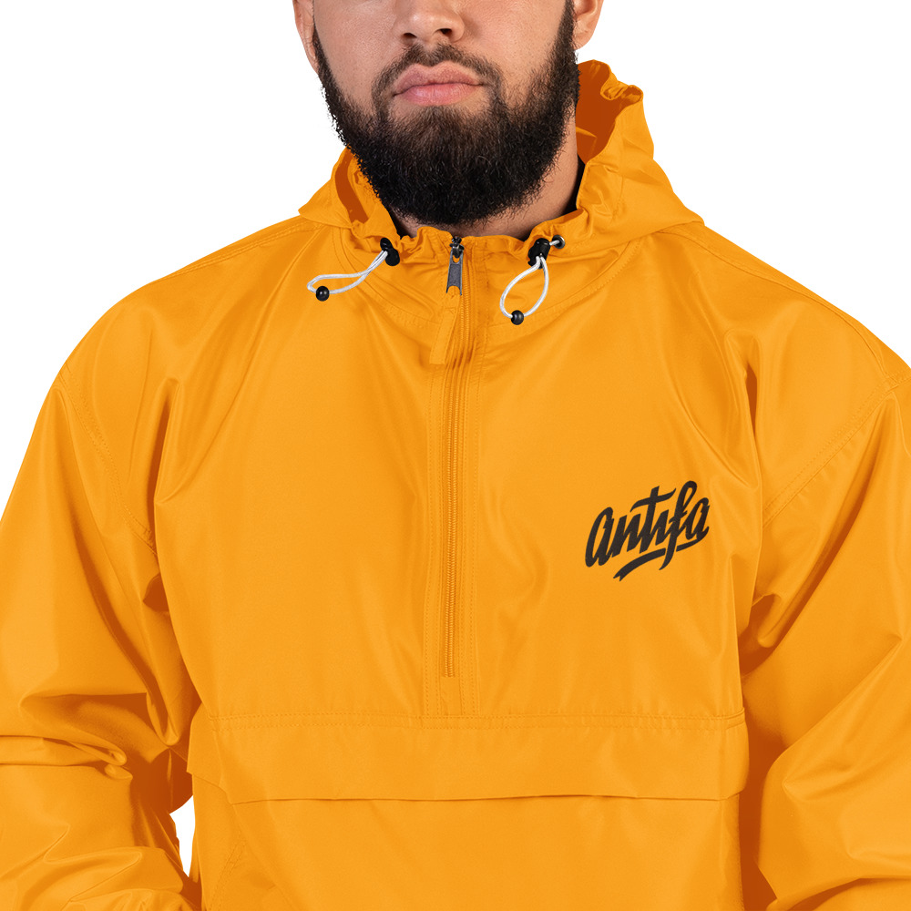Antifa Embroidered Champion Packable Jacket