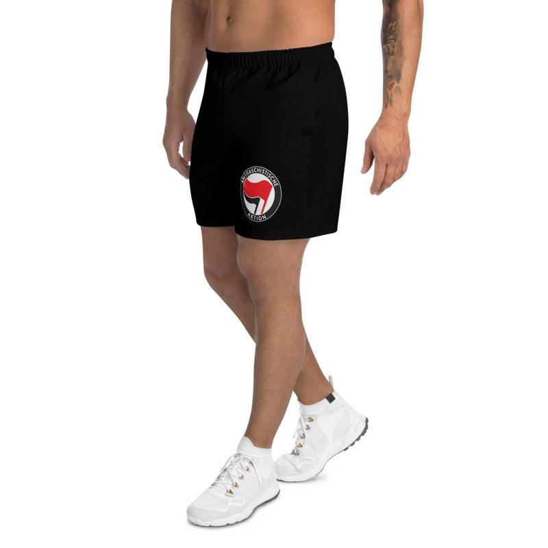 Antifa Antifaschistische Aktion Flag Black Men's Athletic Long Shorts