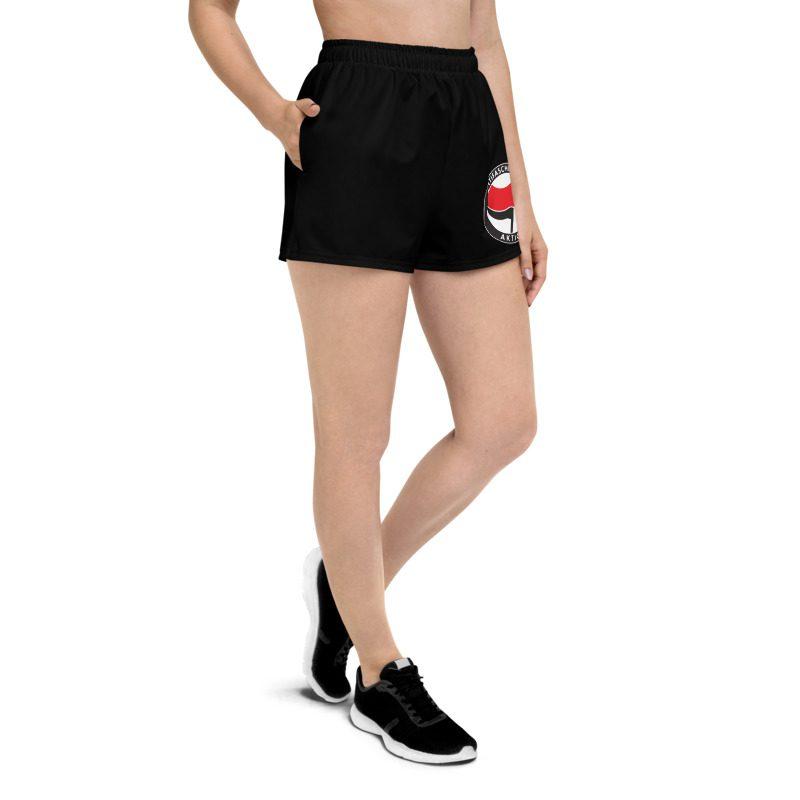 Antifa Antifaschistische Aktion Flag Women's Athletic Short Shorts