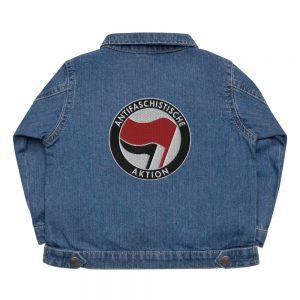Antifa Antifaschistische Aktion Flag Baby Organic Jacket