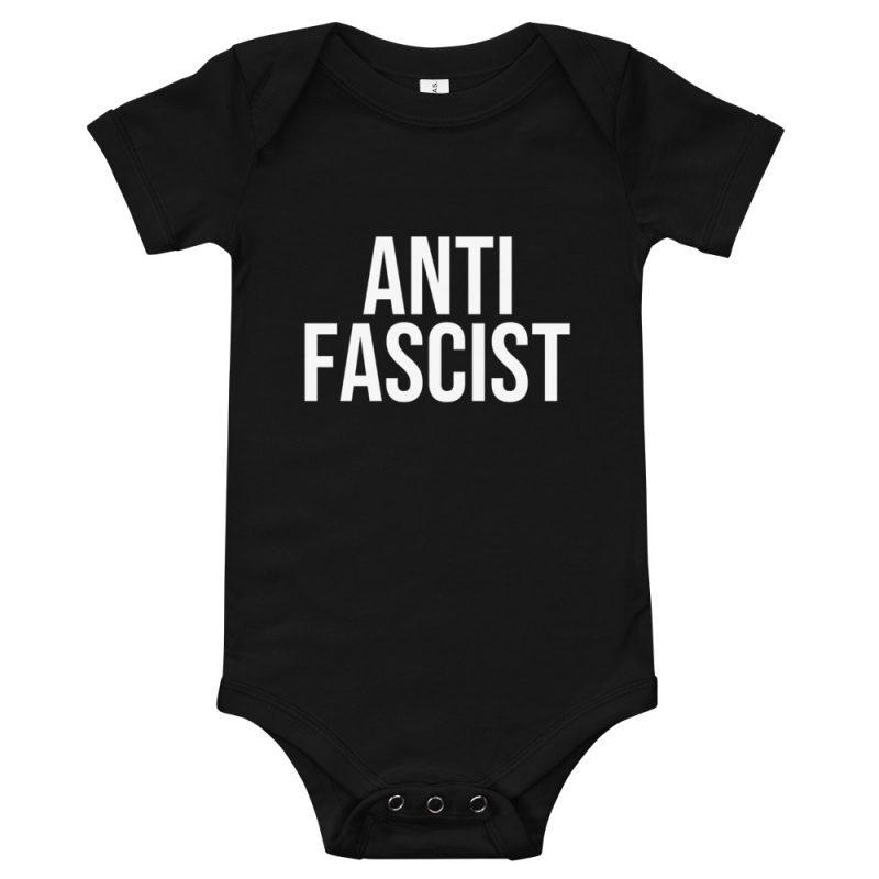 Anti-Fascist Baby Short Sleeve One Piece