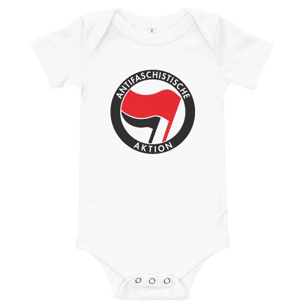 Antifa Antifaschistische Aktion Flag Baby One Piece