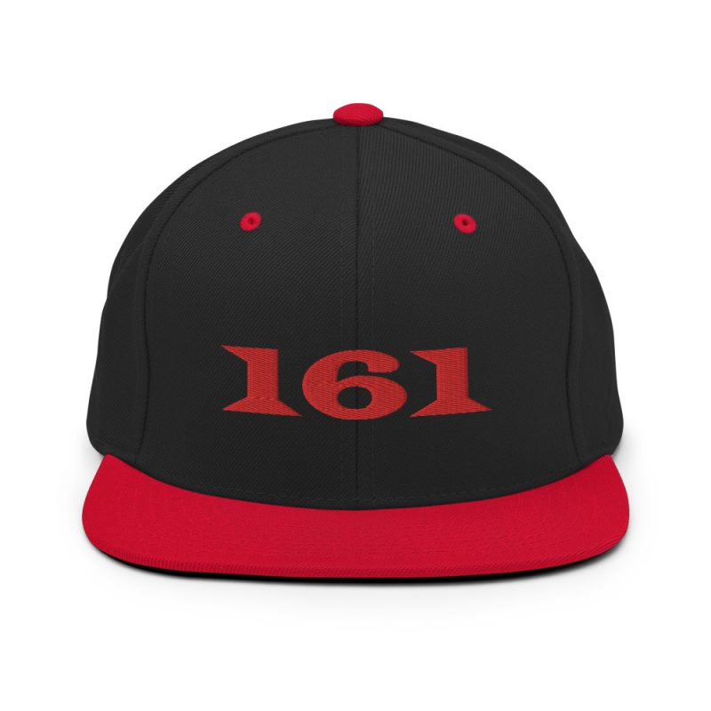 161 Red Snapback Hat