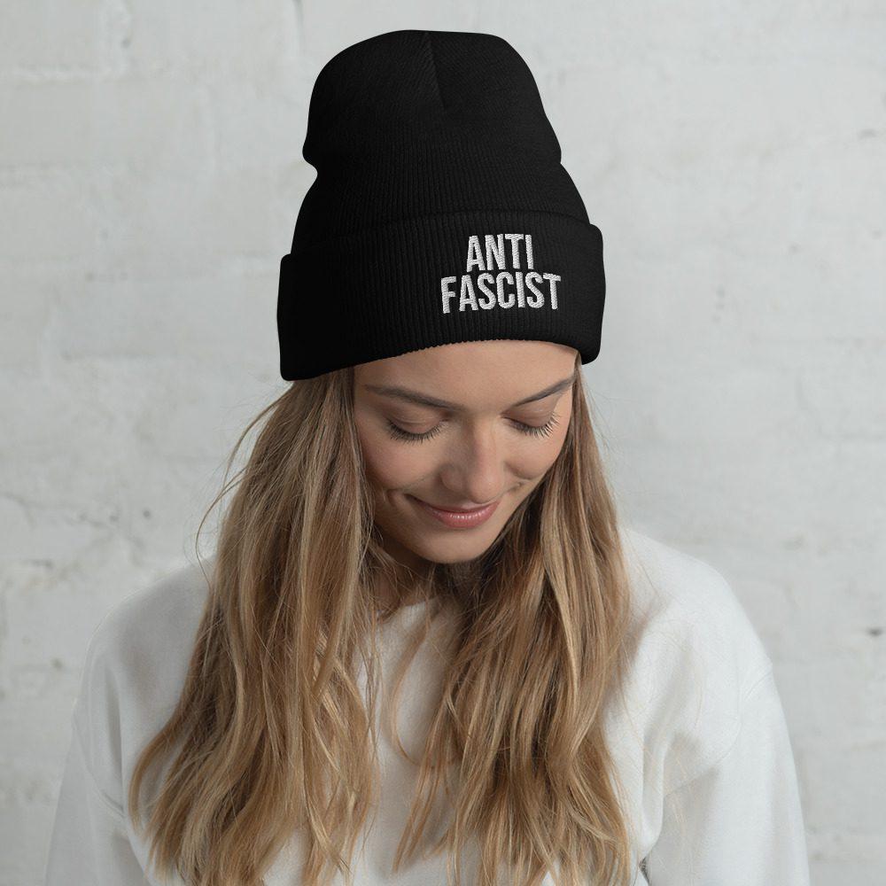 Anti-Fascist Cuffed Beanie