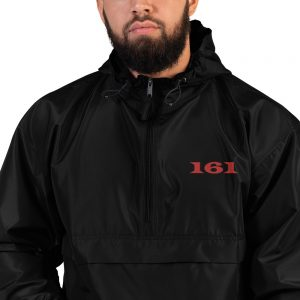 161 Red Embroidered Champion Packable Jacket
