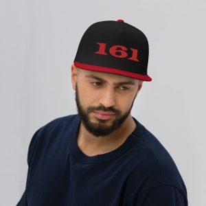 161 Red Flat Bill Cap